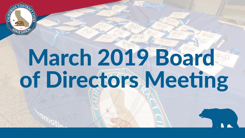 March 2019 Board of Directors Meeting
